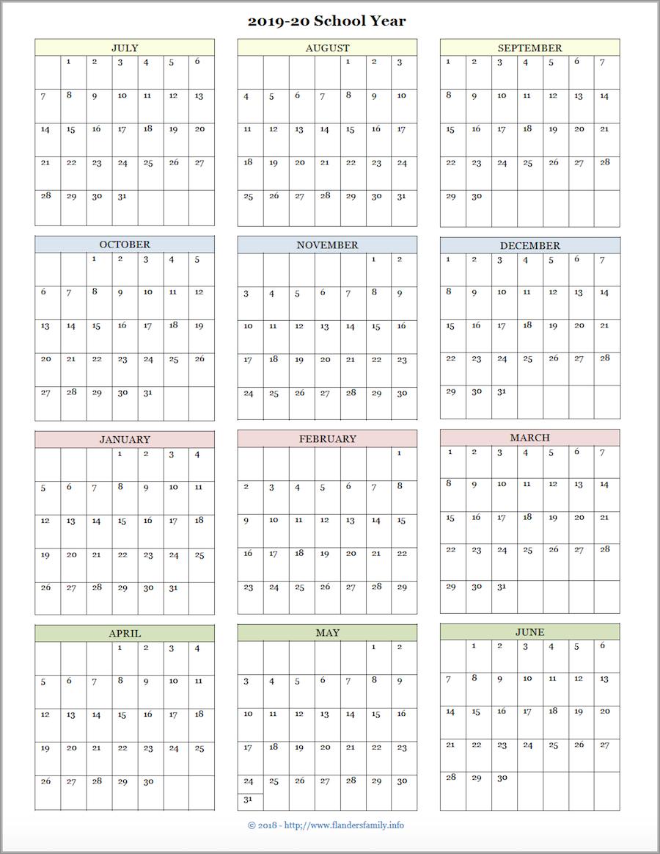 Printable Academic Calendar 2020 16  Bolan.horizonconsulting.co intended for Berkeley 2020-2020 Calendar