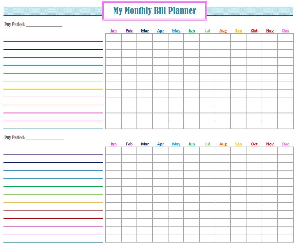 Printable Bill Calendar  Free Download | Bill Planner, Bill intended for Printable Bill Calendar