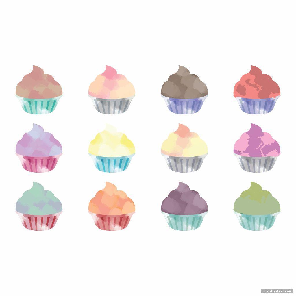 Printable Birthday Chart Cupcake  Printabler intended for Free Printable Cupcake Birthday Chart