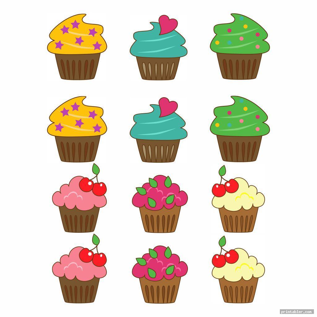 Printable Birthday Chart Cupcake  Printabler throughout Free Printable Cupcake Birthday Chart