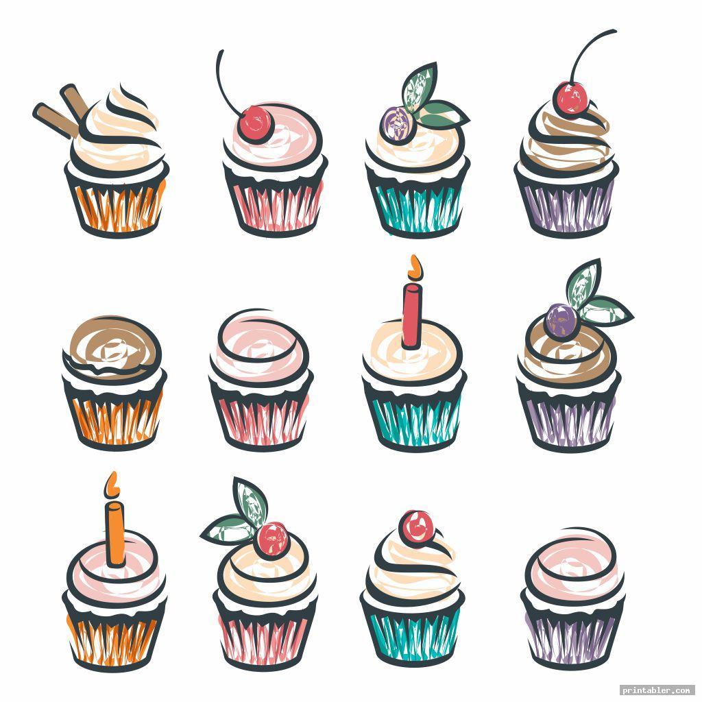 Printable Birthday Chart Cupcake  Printabler within Free Printable Cupcake Birthday Chart