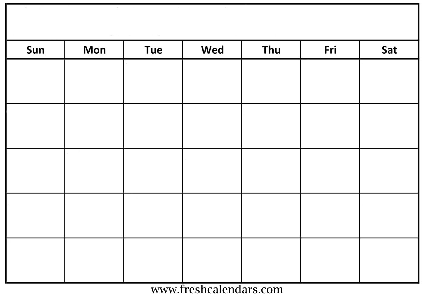 Printable Blank Calendar With Lines | Monthly Printable Calender in Blank Calendar With Lines