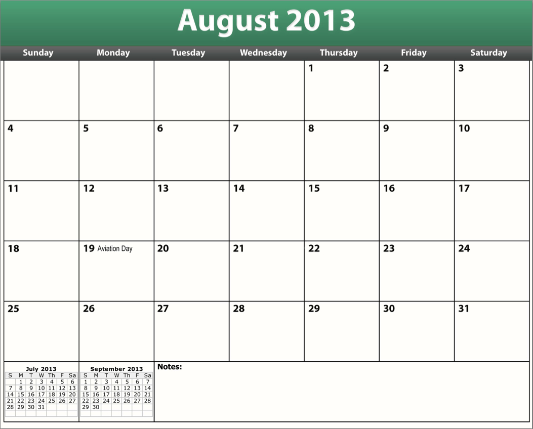 Printable Blank Calendars July 2013 | Pocket Calendar Booklets in Printable Pocket Calendar
