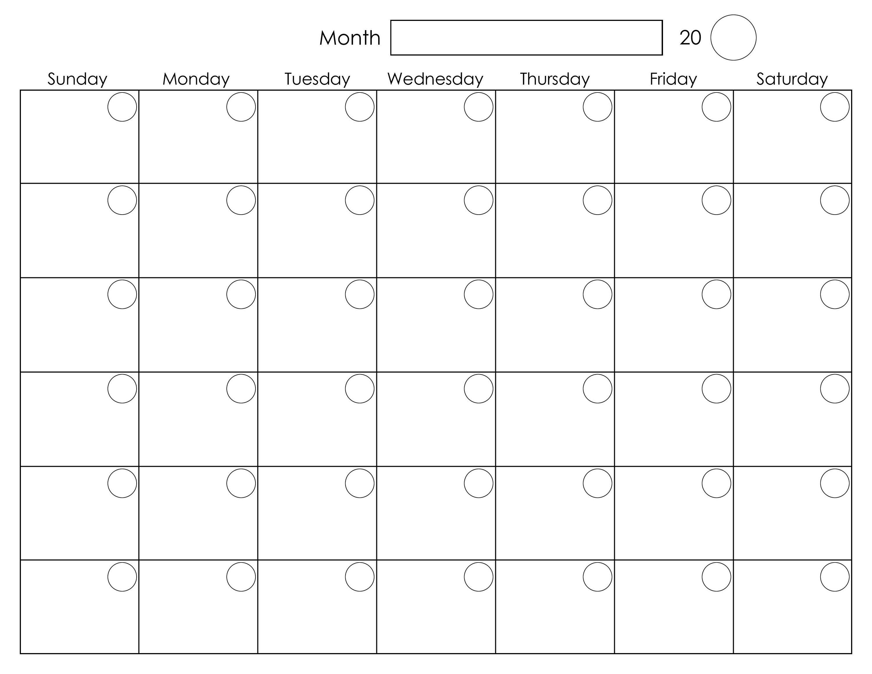 Printable Blank Monthly Calendar | Календарь Для Печати intended for Blank Monthly Calender