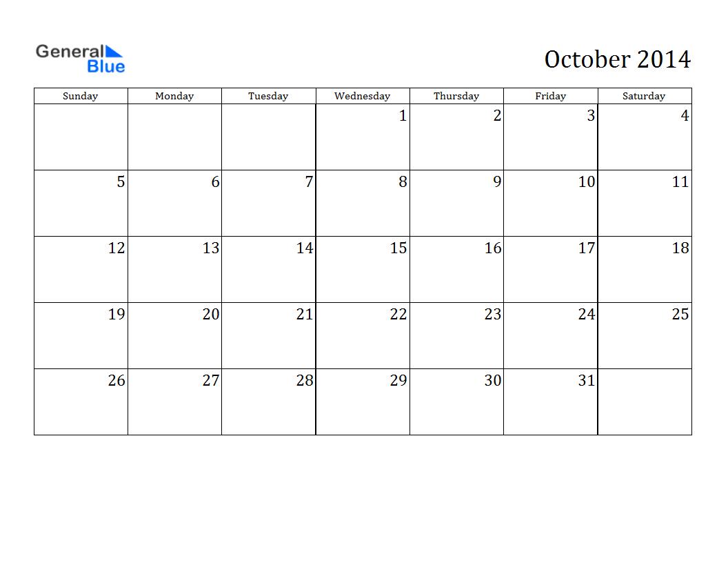 Printable Calendar 2014, Blank Calendar 2014, Download in Blank Calendar 2014