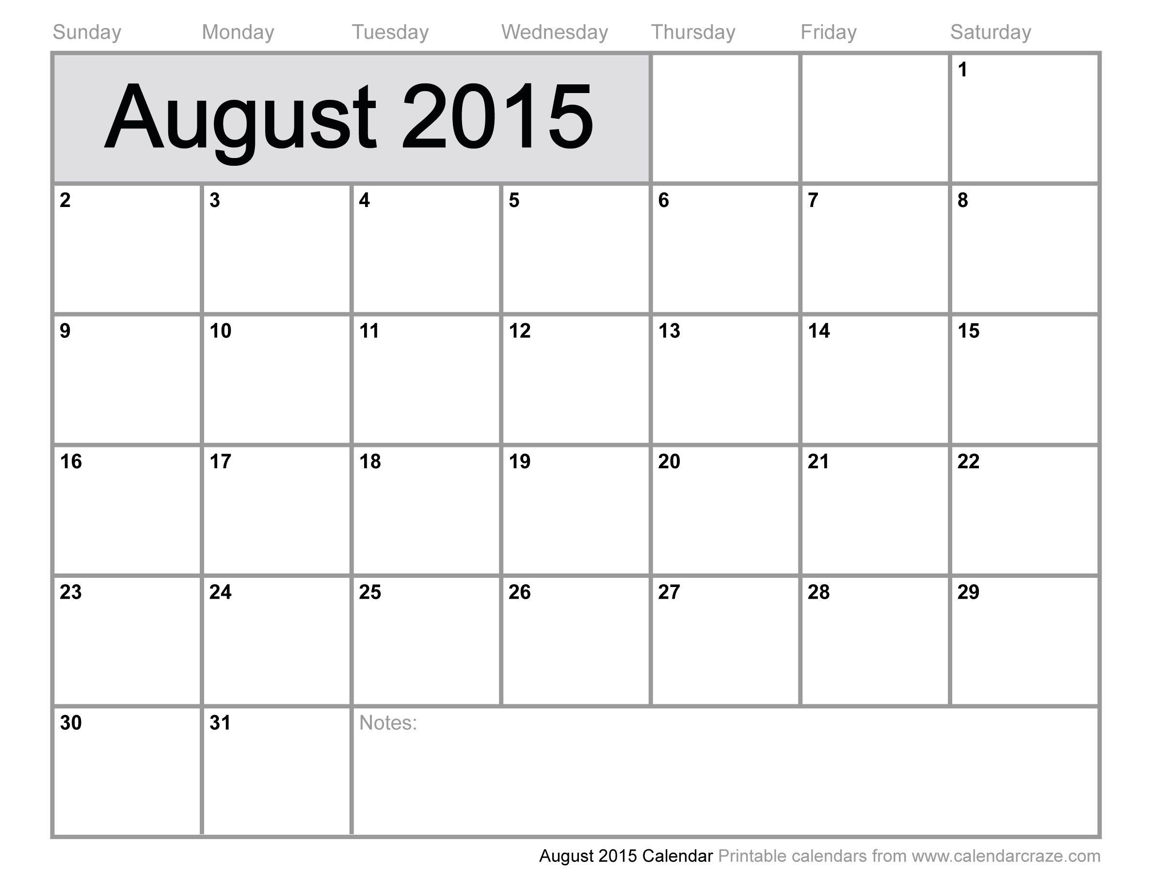 Printable Calendar 2015  Google Search | Organization with Printable Monthly Calendar 2015