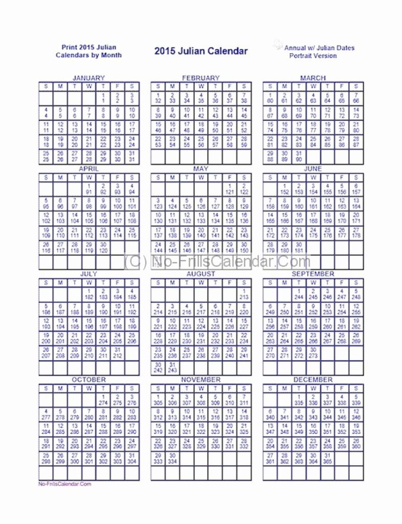 Printable Calendar 2018 Julian Dates | Printable Calendar with Julian Calendar 2018
