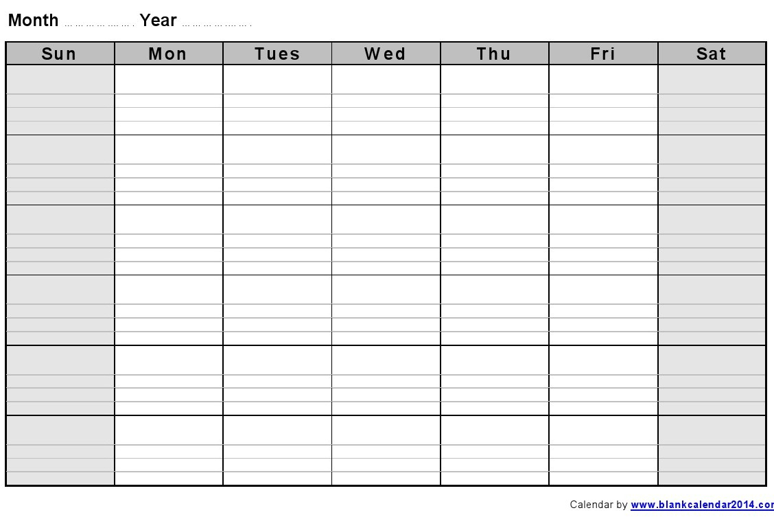 Printable Calendar With Lines | Calendar Printables Free for Printable Calendar With Lines