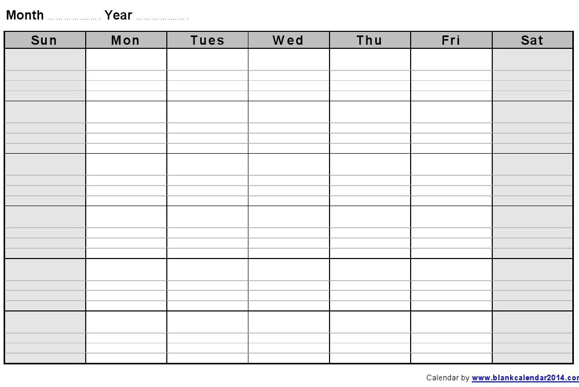 Printable Calendar With Lines | Calendar Printables Free with regard to Blank Calendar With Lines