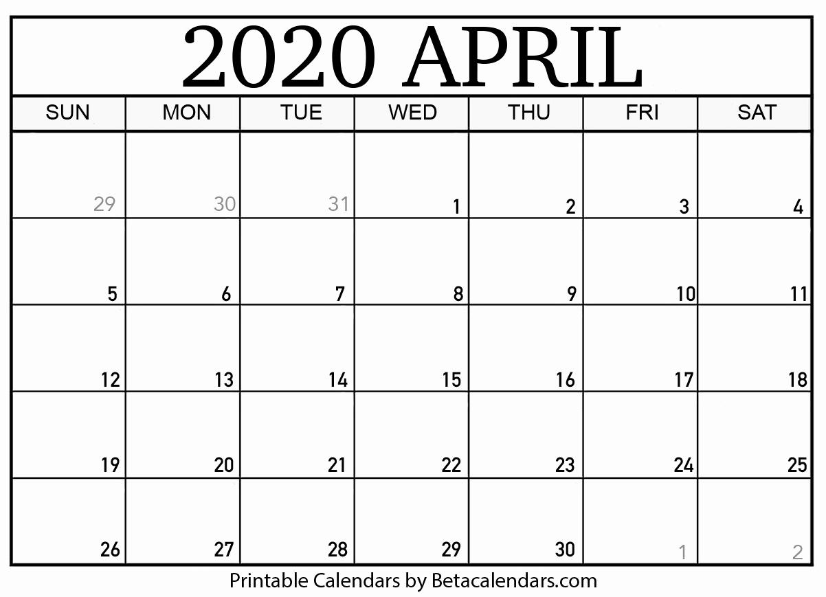 Printable Calendars April 2020  Bolan.horizonconsulting.co throughout November 2020 Calendar Beta Calendars
