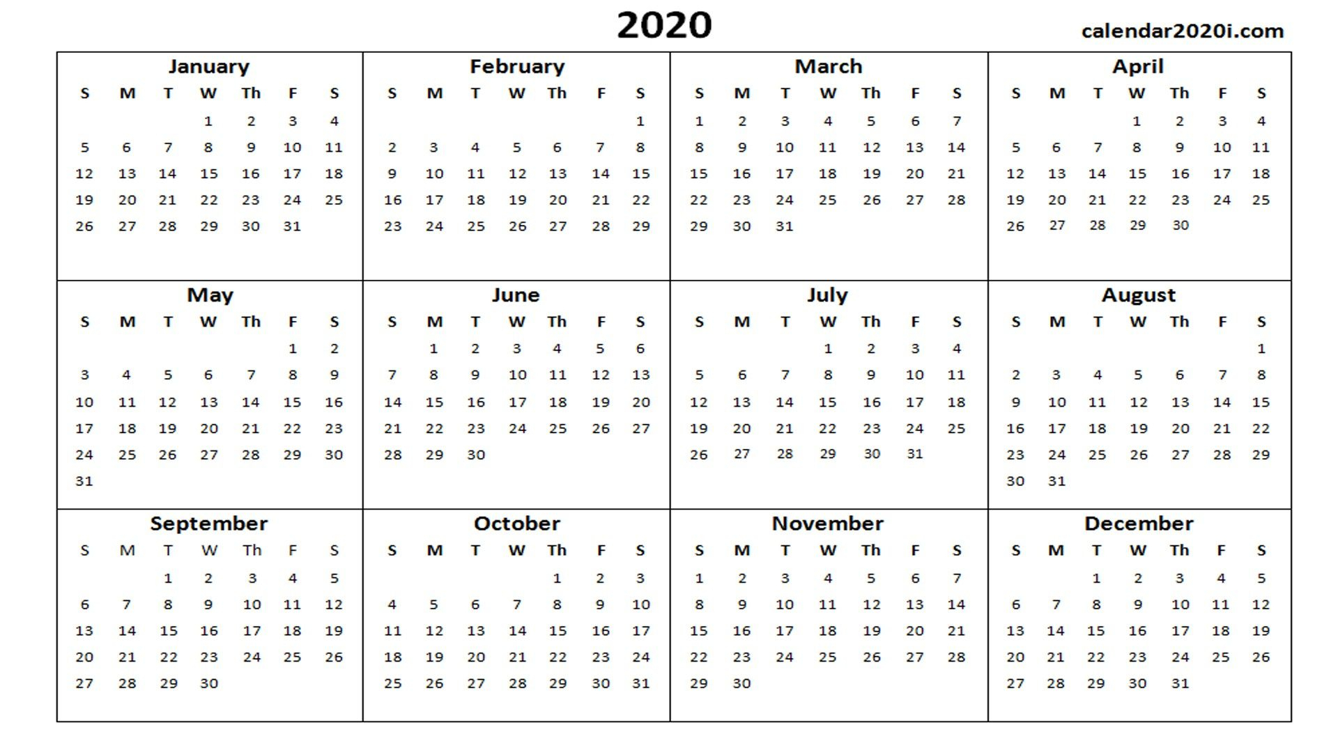 Printable Calendars For 2020 – Pleasant For You To Our with regard to Wincalendar April 2020