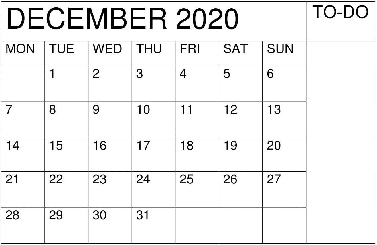 Printable December 2020 Academic Calendar – Free Latest inside Calander December 2020