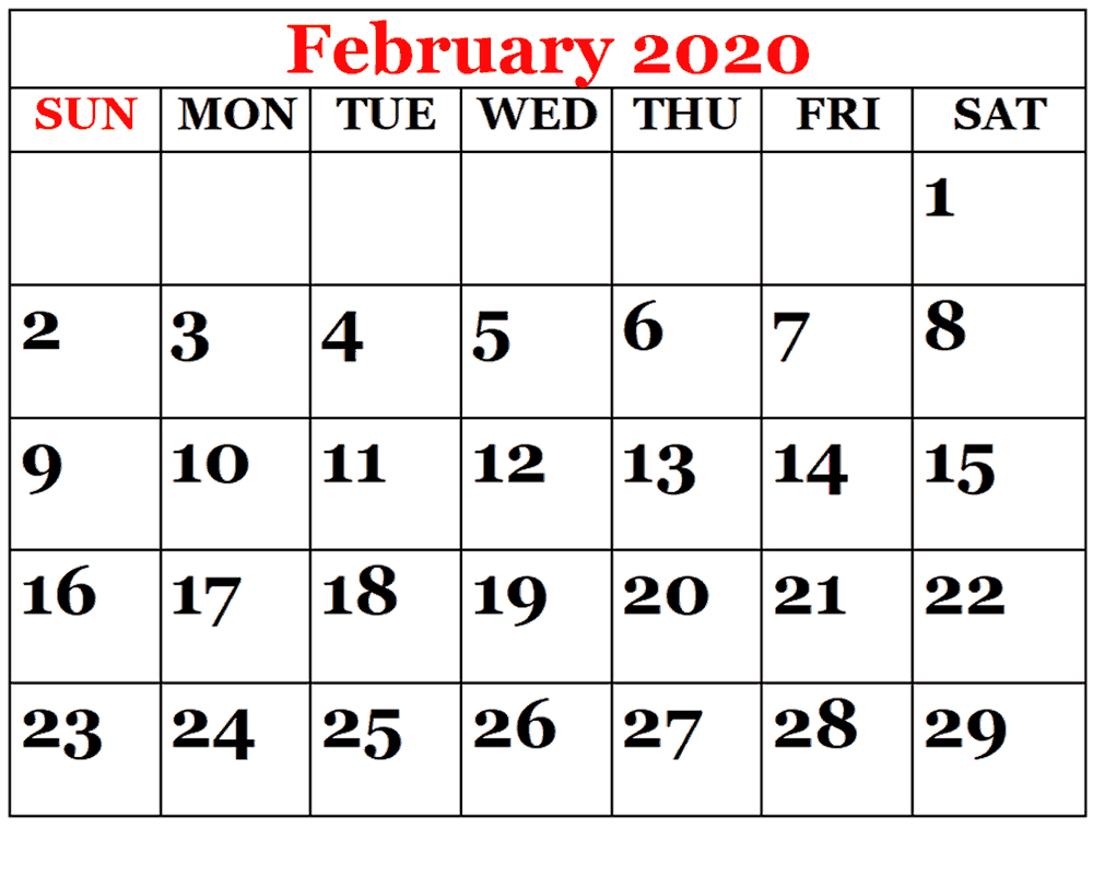 Printable February Calendar For 2020 – Waterproof Paper | 12 within Waterproof Calendar January 2020