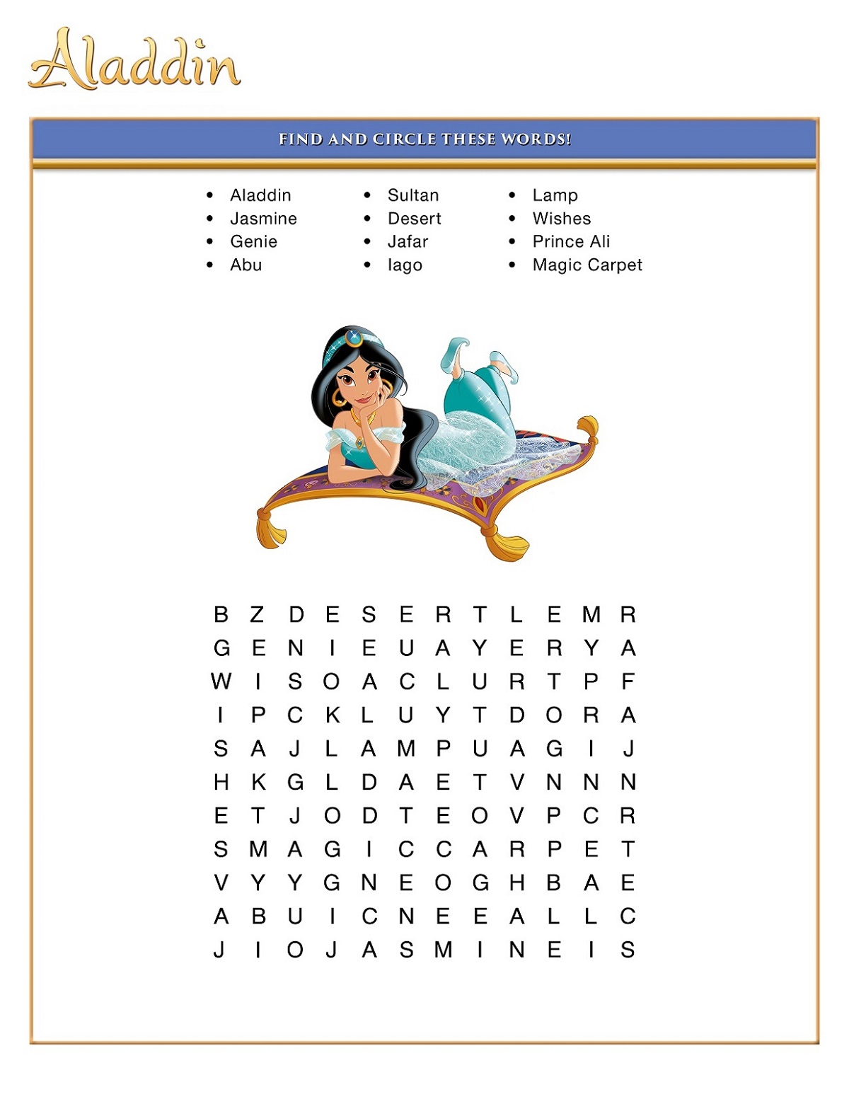 Printable Fun Disney Word Searches | 101 Activity with Disney Word Search Printable