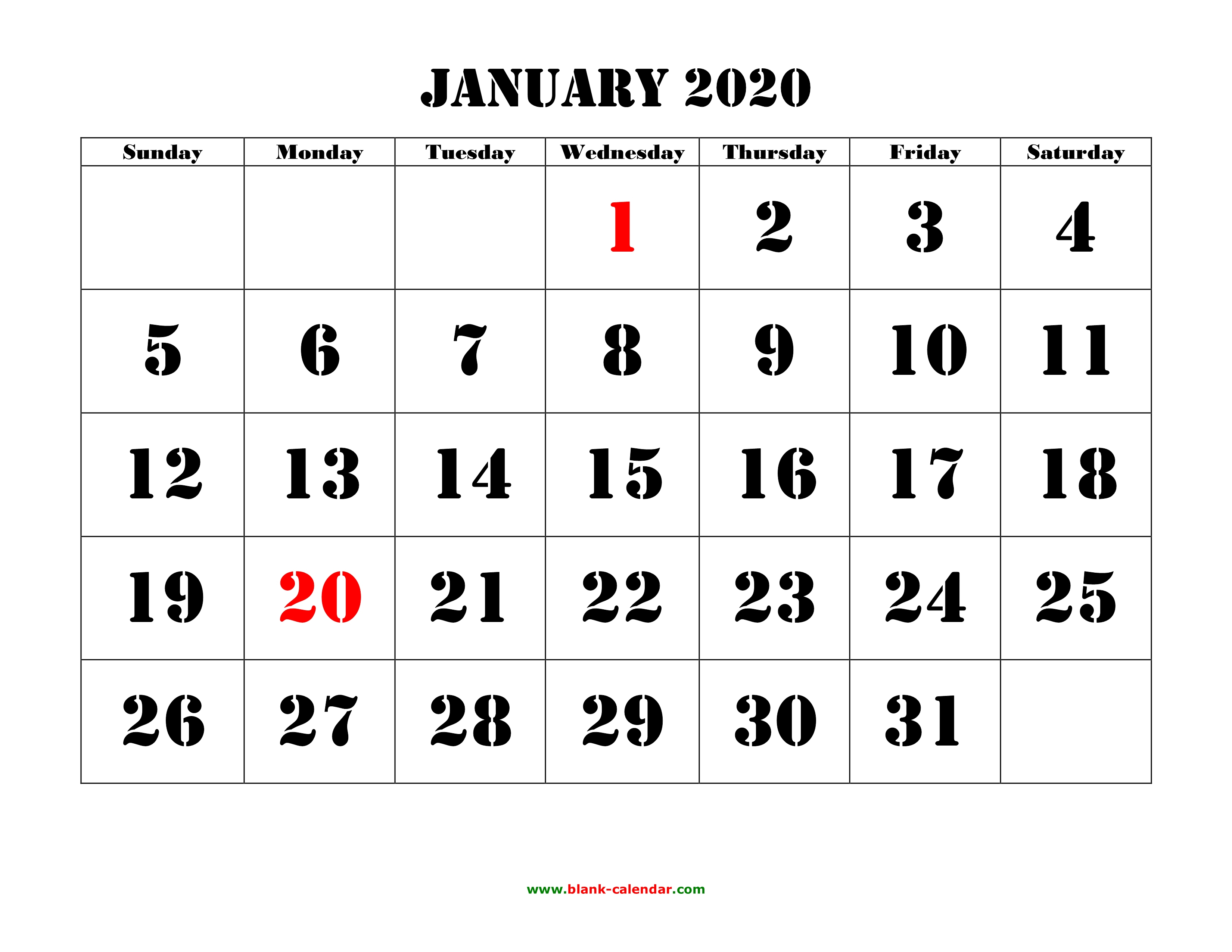 Printable Monthly Calendar 2020 regarding Monthly Calendar With Time Slots 2020
