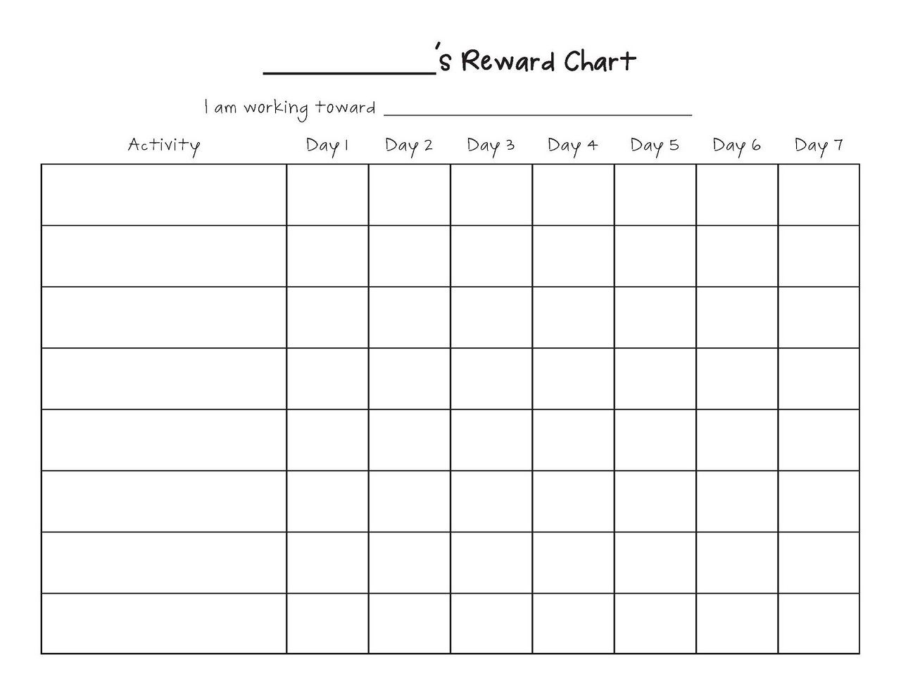 Printable Reward Chart Template | Reward Chart Template with regard to Monthly Sticker Chart