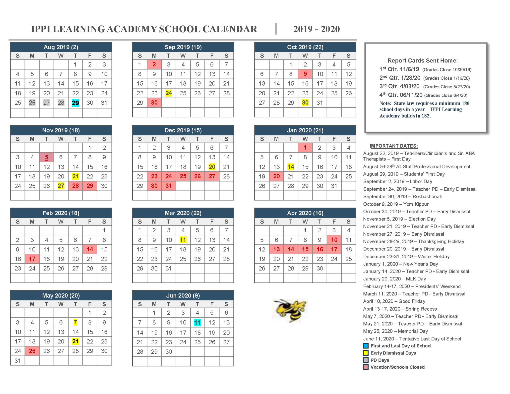 Printable School Calendar  Topa.mastersathletics.co inside Monarch Christian School Calendar