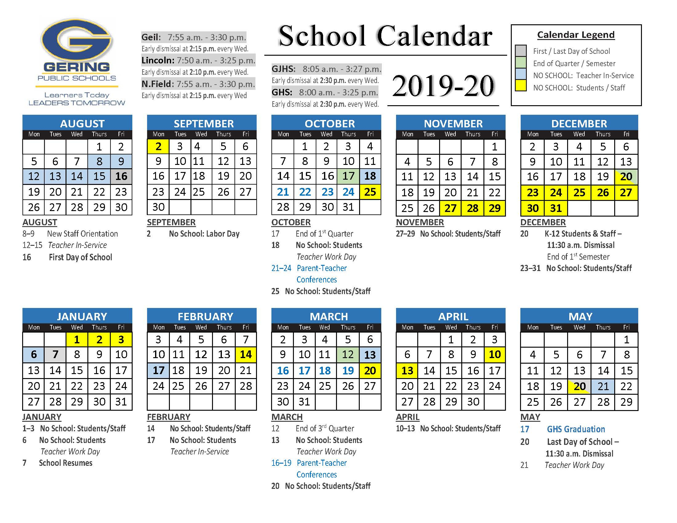 Printable School Calendar  Topa.mastersathletics.co throughout Monarch Christian School Calendar
