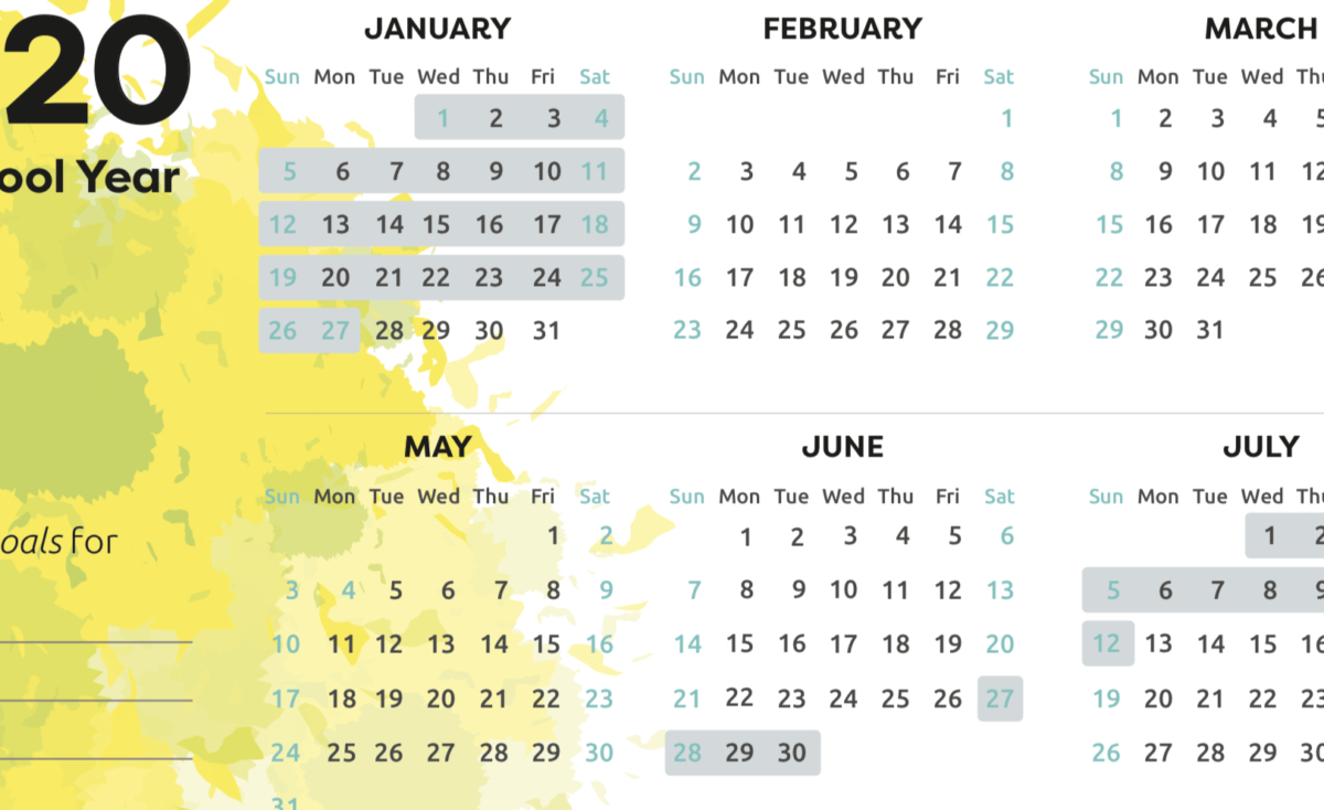 Printable School Holiday Calendar 2020  School Direct for School Terms 2020 South Africa