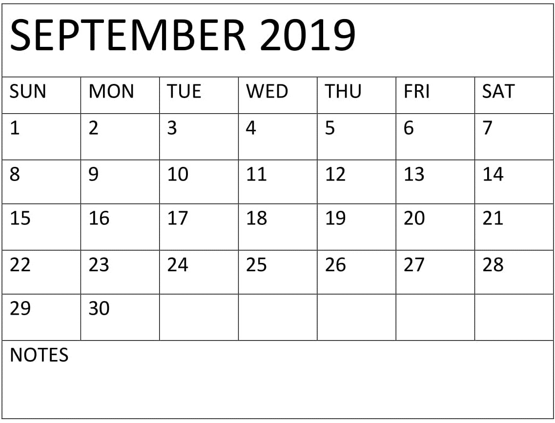 Printable September 2019 Pocket Calendar – Free Latest regarding Printable Pocket Calendar