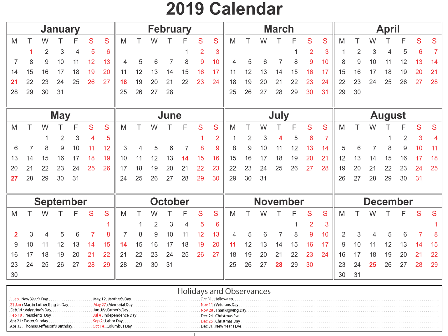 Printable South Africa 2019 Calendar #southafrica #calendar for 2017 School Calendar South Africa