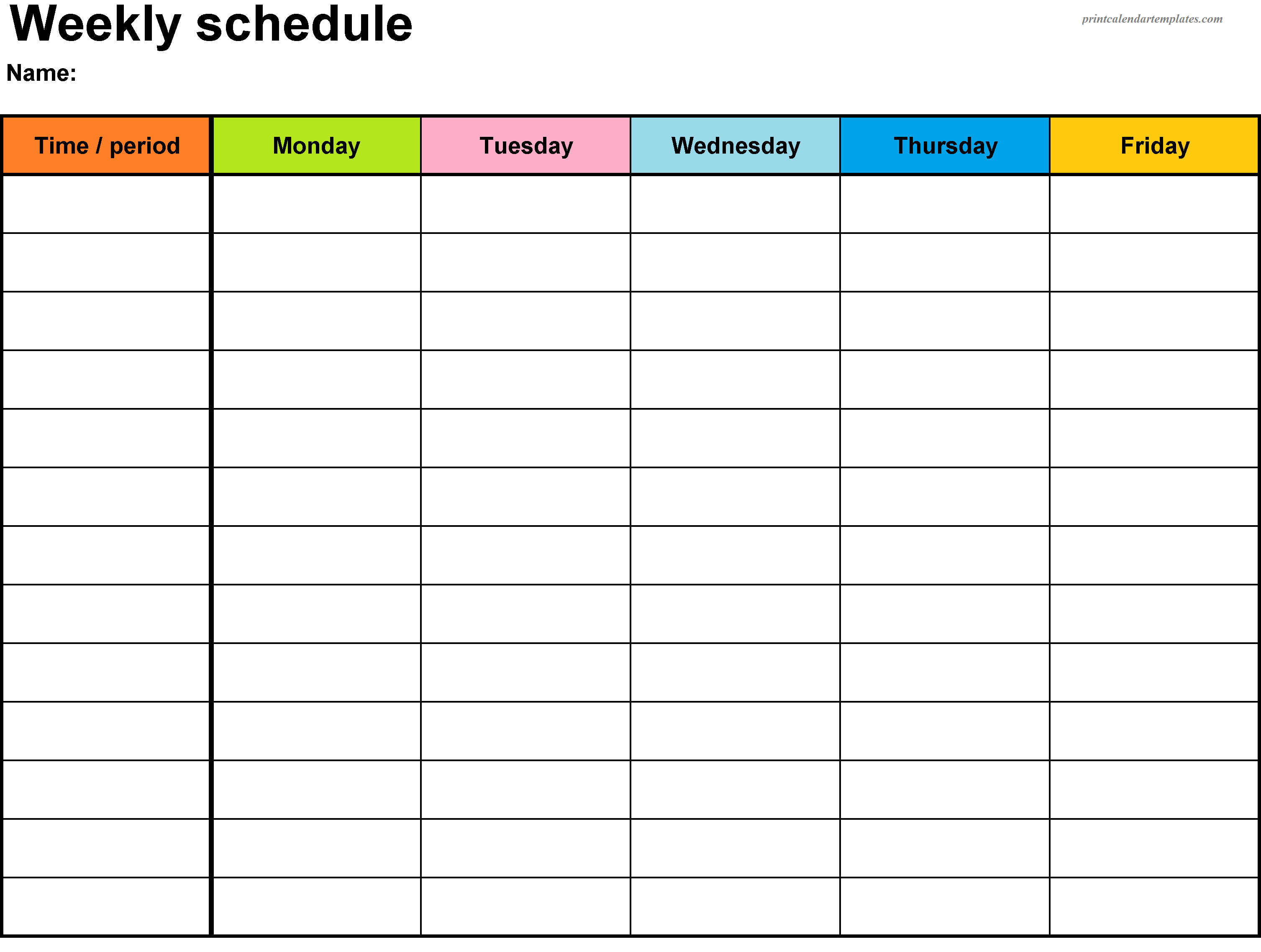 Printable Weekly Planner Template | Weekly Planner Printable inside Weekly Calendar Template With Time Slots