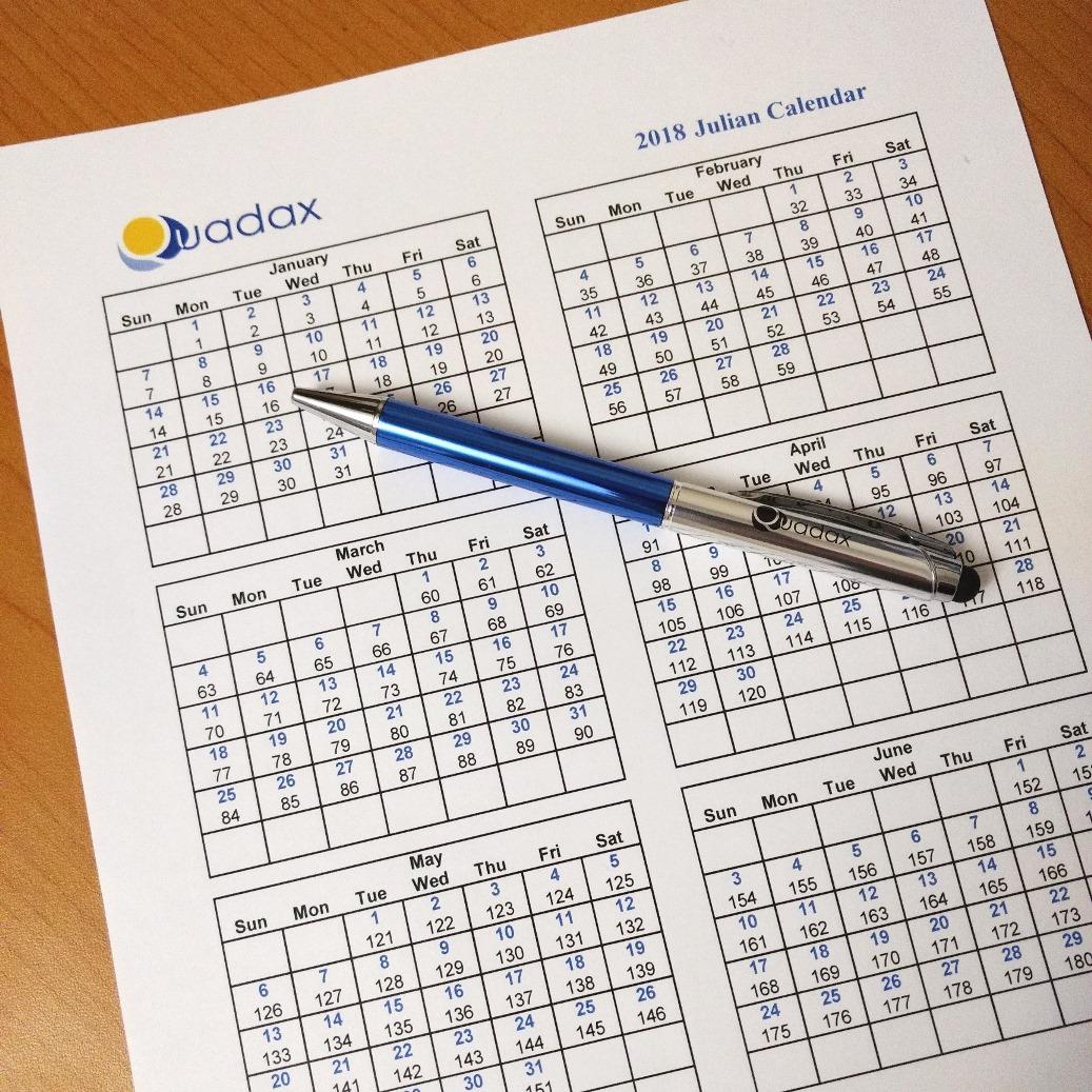 Quadax 2018 Julian Calendar pertaining to Quadax Julian Calendar