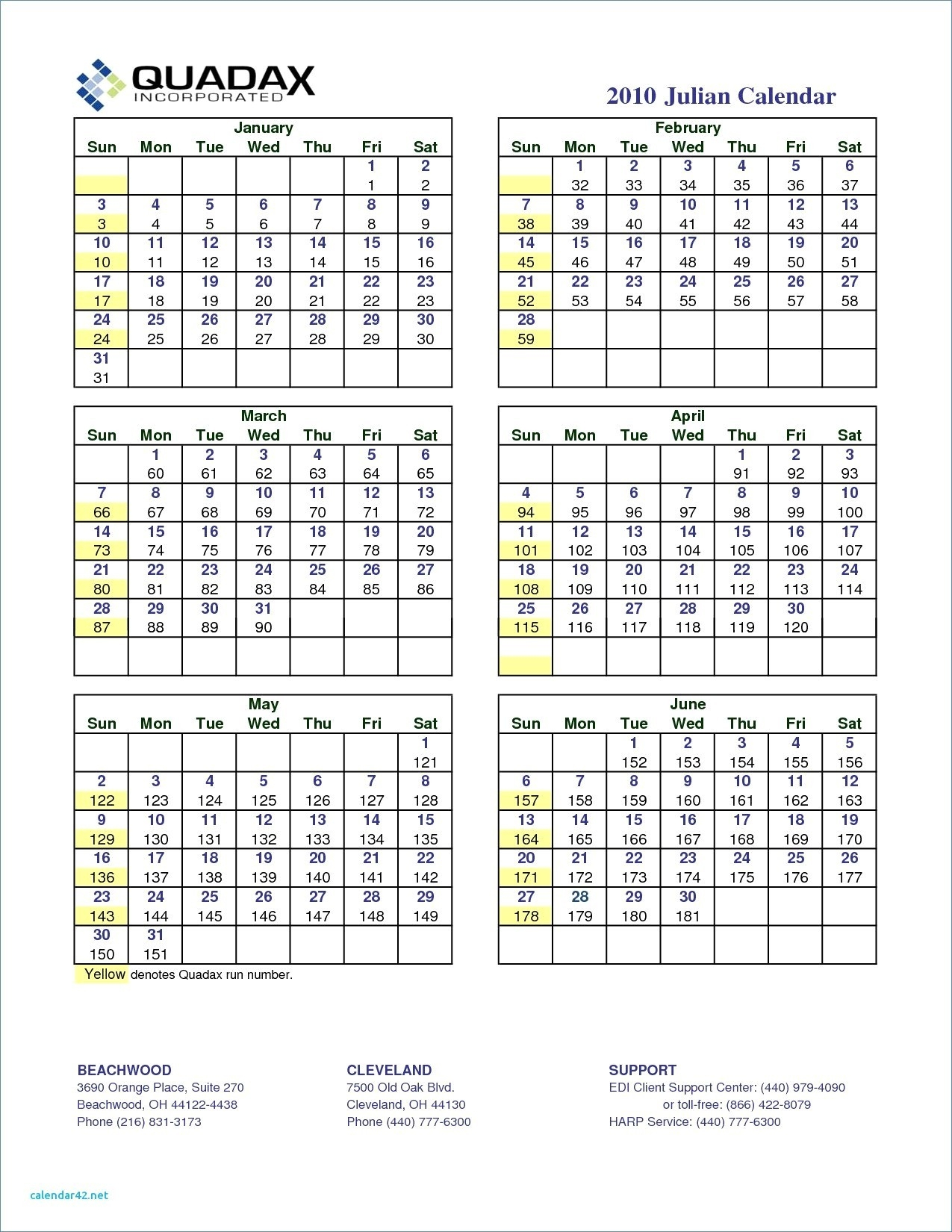 Quadax Julian Calendar 2020 Pdf | Example Calendar Printable in Quadax Julian Calendar 2020