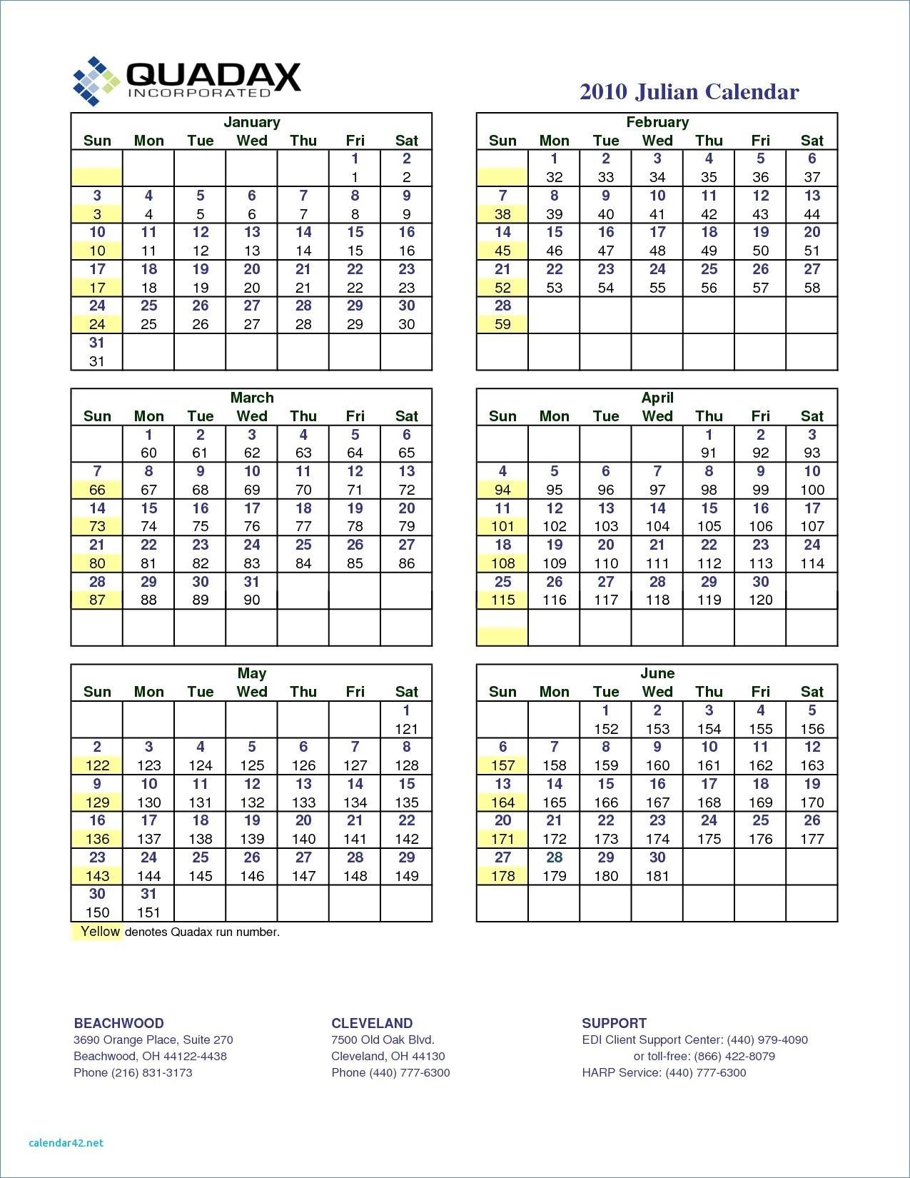 Quadax Julian Calendar 2020 Pdf | Example Calendar Printable inside Julian Calendar 2018