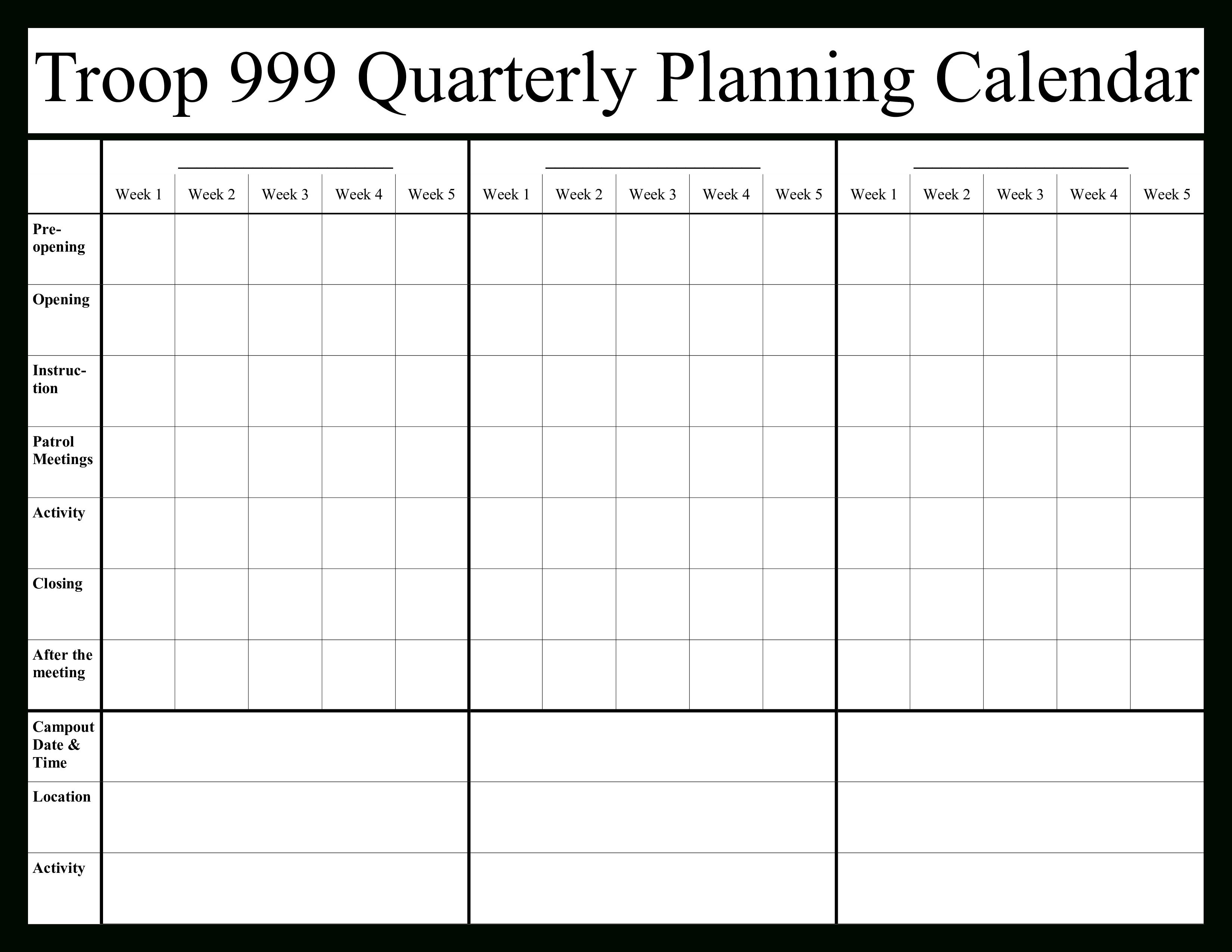 Quarterly Calendar 2020 | Templates At Allbusinesstemplates for 2020 Quarterly Calendar Template Excel