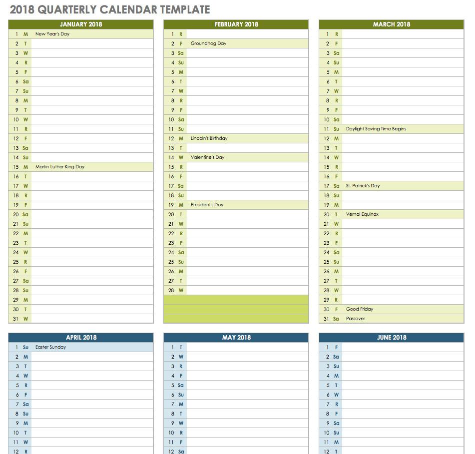 Quarterly Calendar Template 2019 Inspirational 2019 for Quarterly Calendar Template Excel