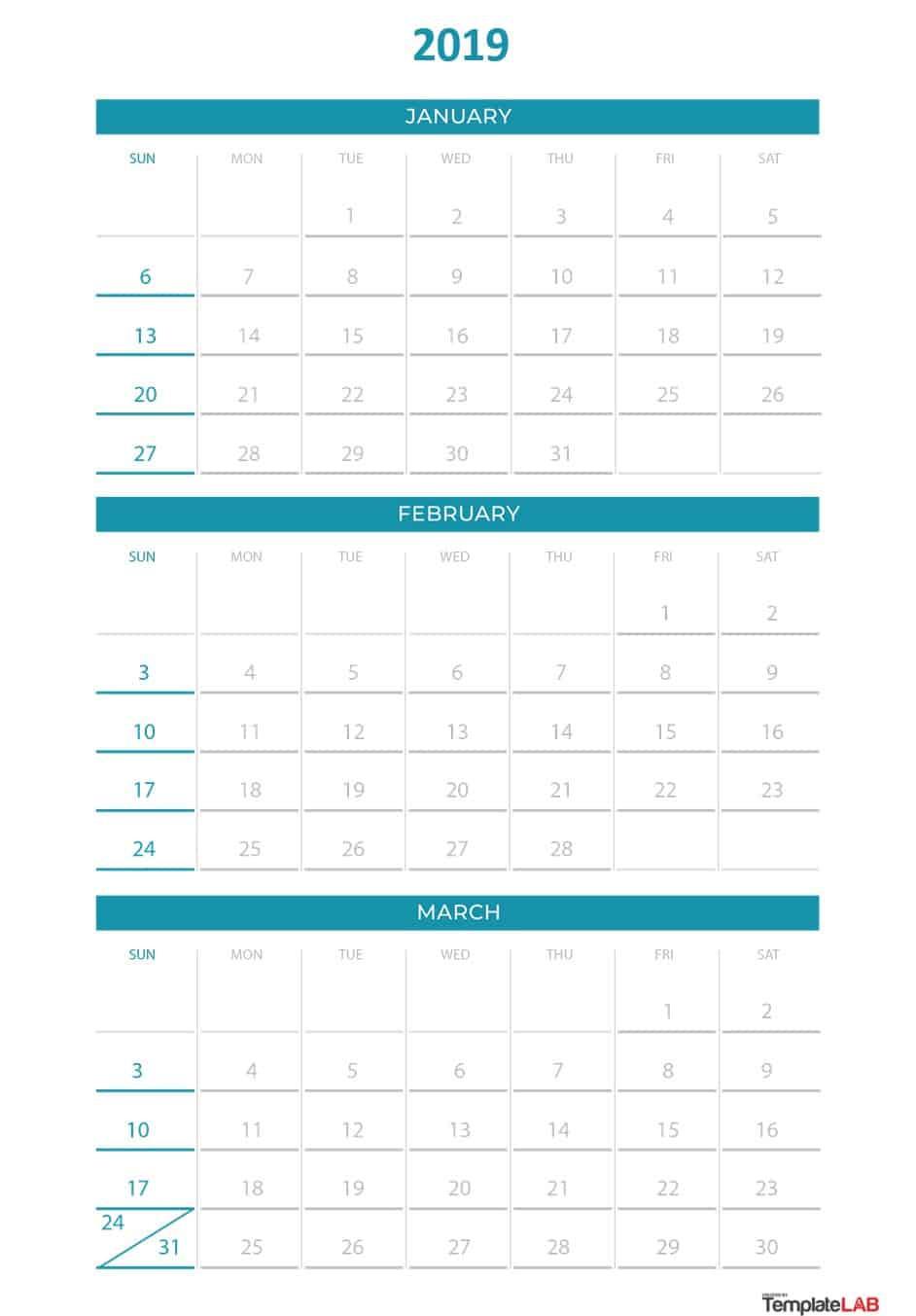 Quarterly Calendar Template 2019 Inspirational 2019 for Quarterly Calendar Template