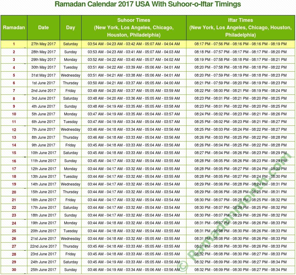 Ramadan Calendar 2017 Usa  Cheap Umrah Package intended for Isha Usa Lunar Calendar