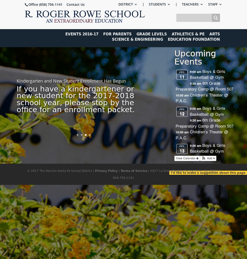 Rancho Santa Fe Elementary Competitors, Revenue And throughout R Roger Rowe School Calendar