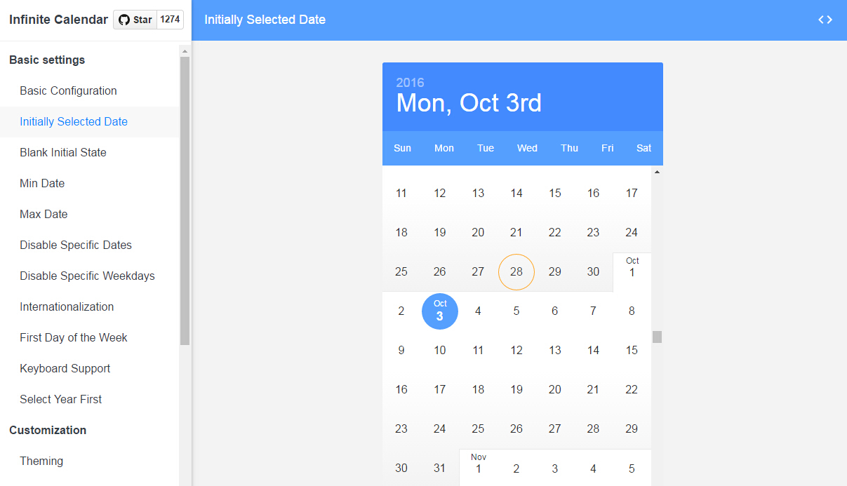 React Infinite Calendar : Infinite Scrolling Datepicker intended for React Datepicker Calendar Icon
