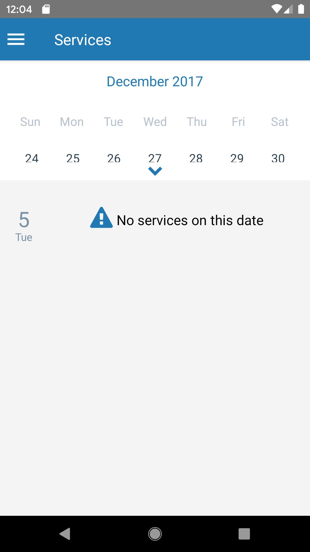 React Native Calendar Agenda Week View Not Rendering throughout React-Native-Calendars Agenda Example