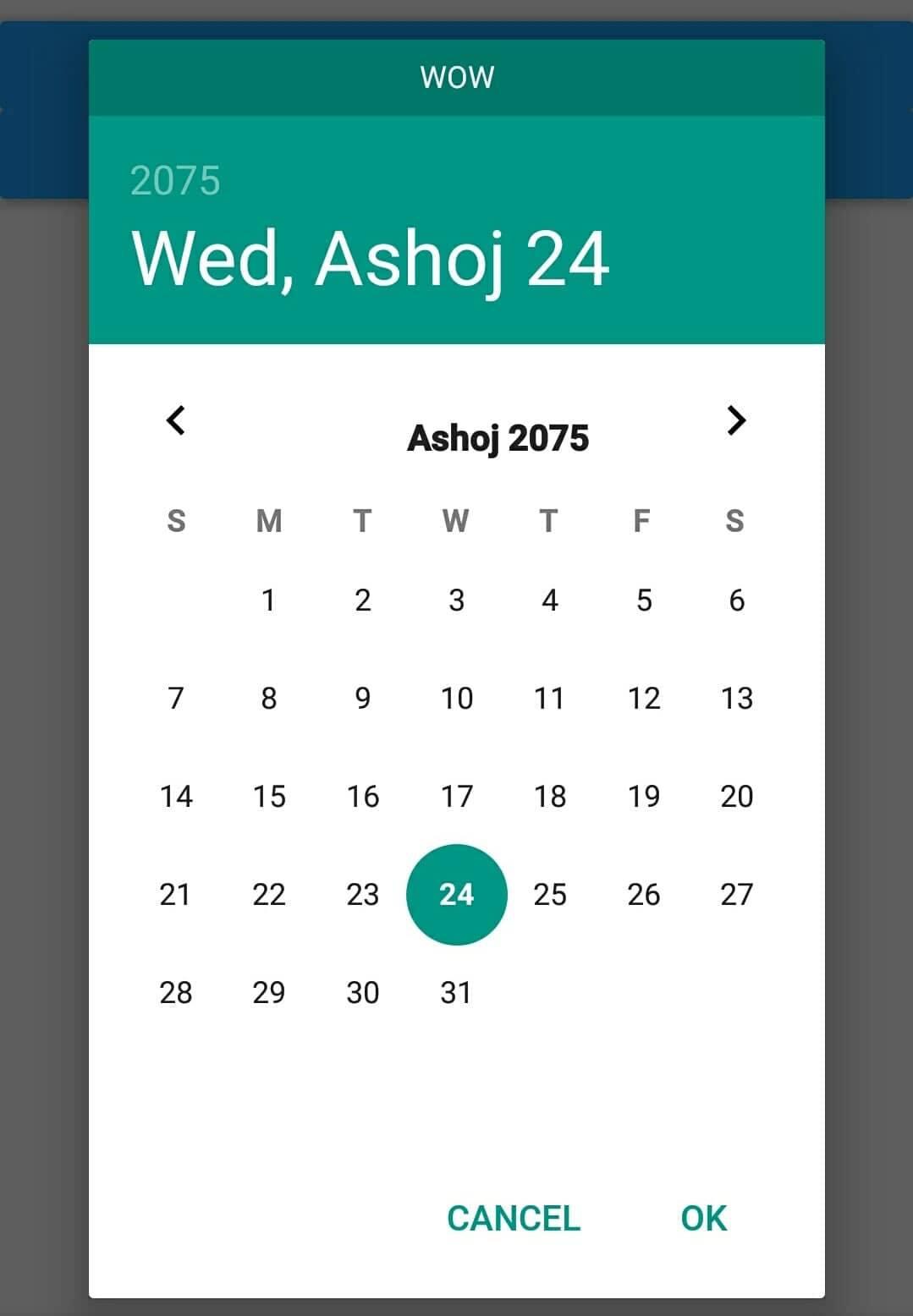 Reactnativenepalidate 1.0.8 On Npm  Libraries.io pertaining to Nepali Date Picker
