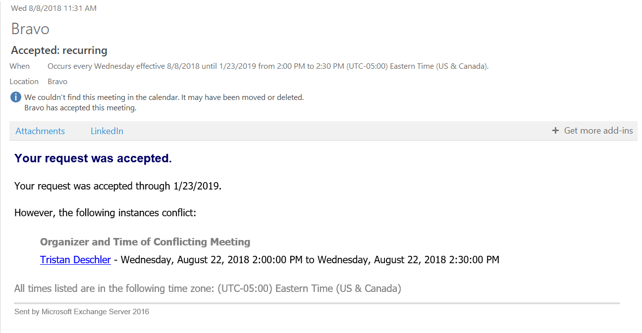 Recurring Meeting Support – Askcody Help Center regarding Outlook We Couldn't Find This Meeting In The Calendar