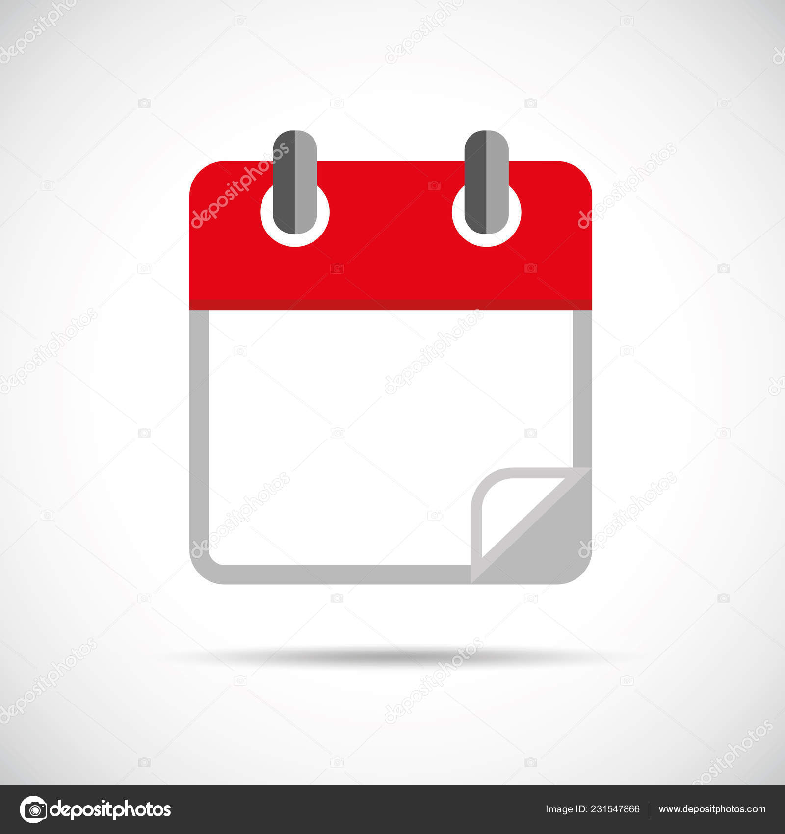 Red Blank Calendar Icon — Stock Vector © Krissikunterbunt intended for Blank Calendar Icon