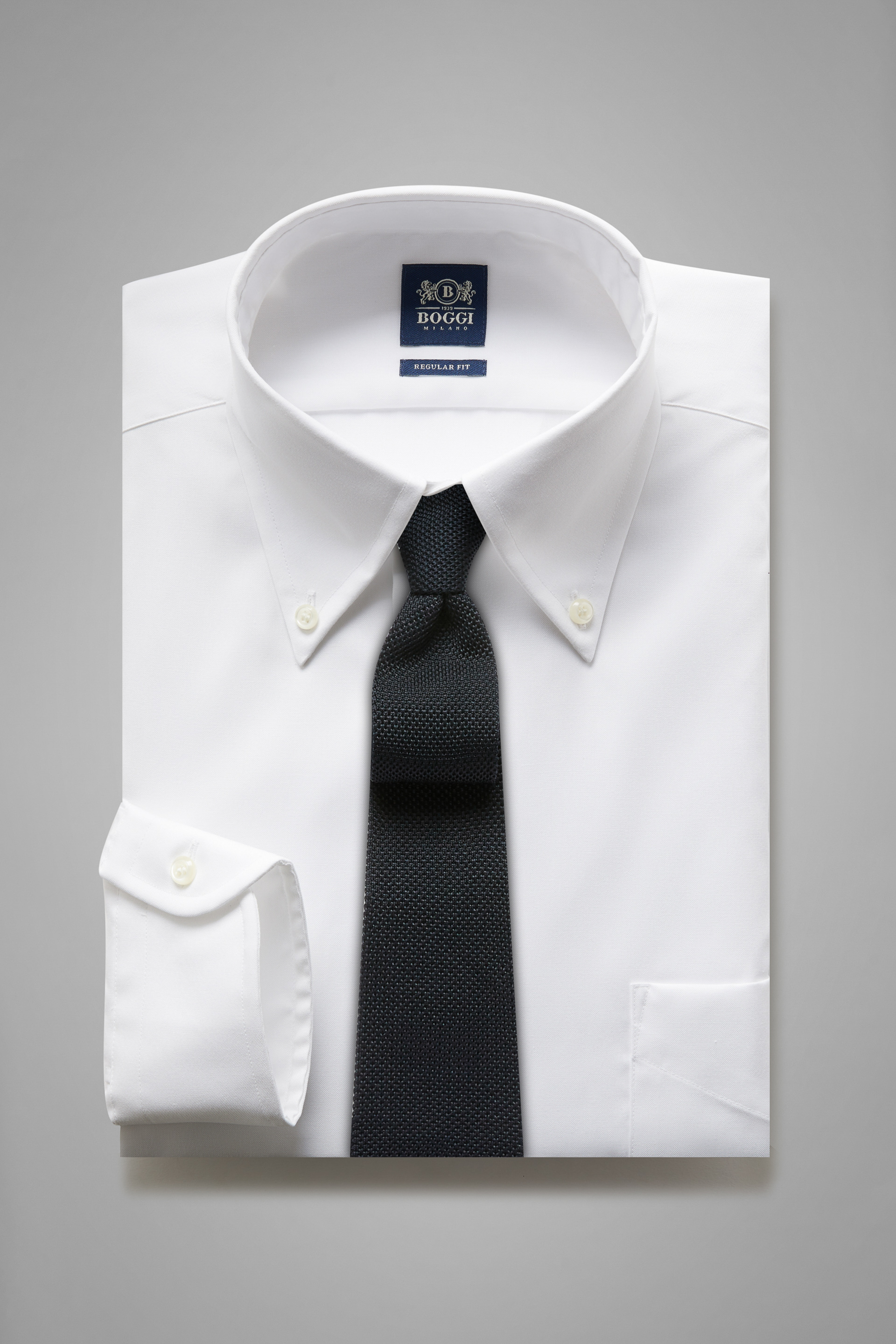 Regular Fit White Shirt With Boston Collar regarding Cuffs And Collars Boston