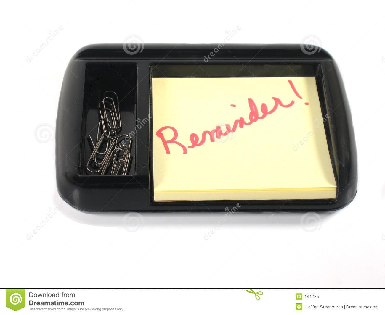 Reminder! Stock Image. Image Of Paper, Desktop, Clips pertaining to Desktop Reminder Gadget