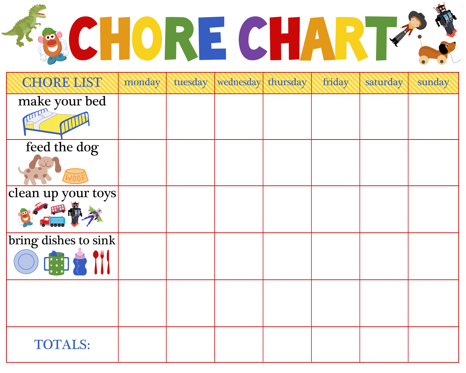 Reward Chart Clipart within Monthly Sticker Chart