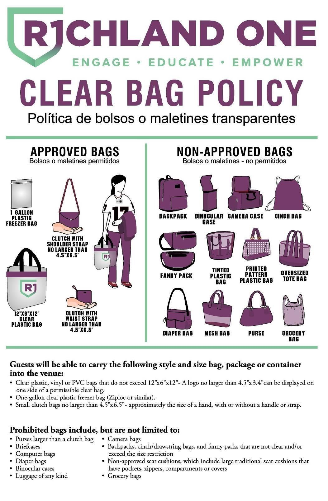 Richland One Implements Clear Bag Policy intended for Richland 1 Calendar