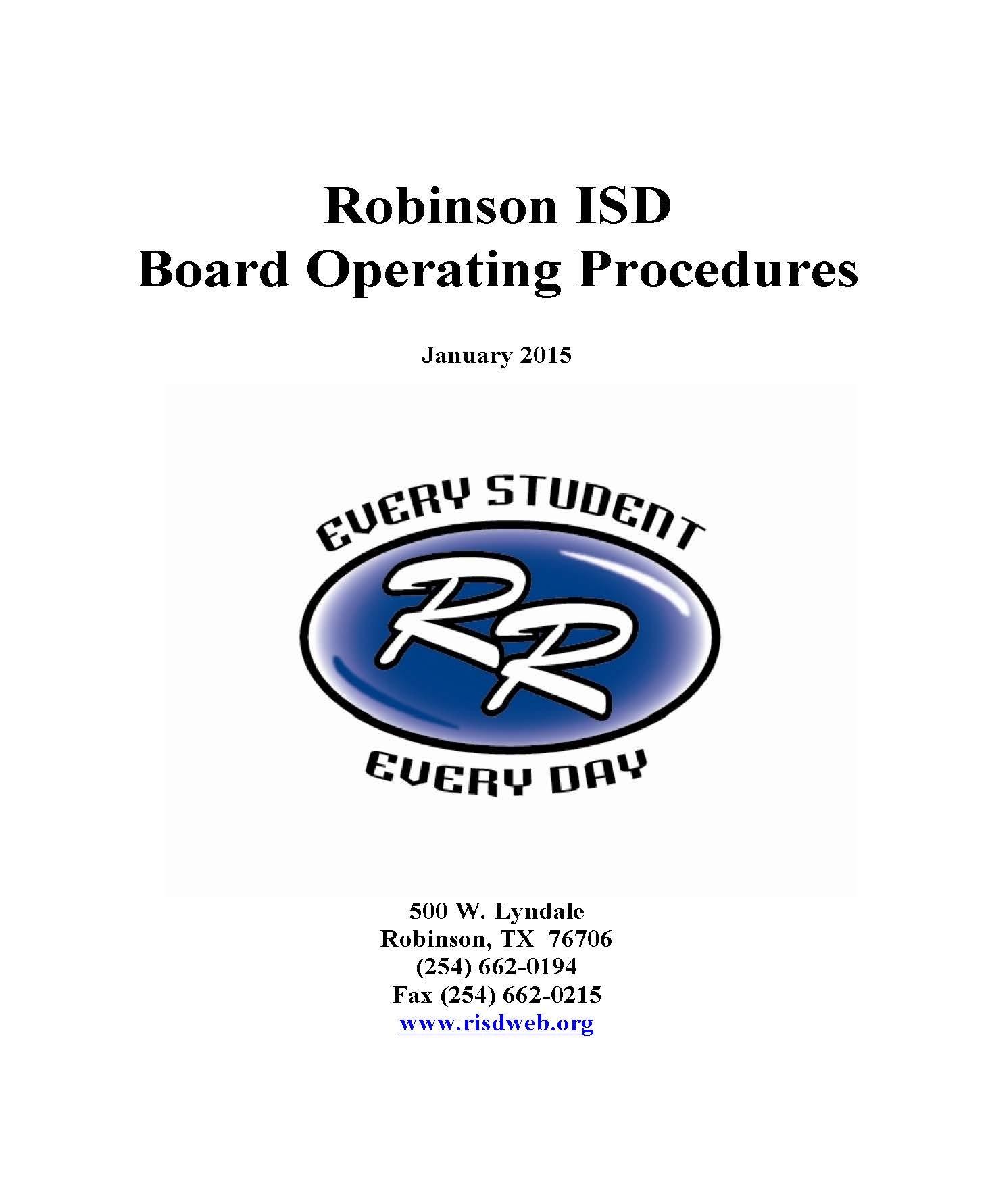 Robinson Isd in Robinson Isd School Calendar
