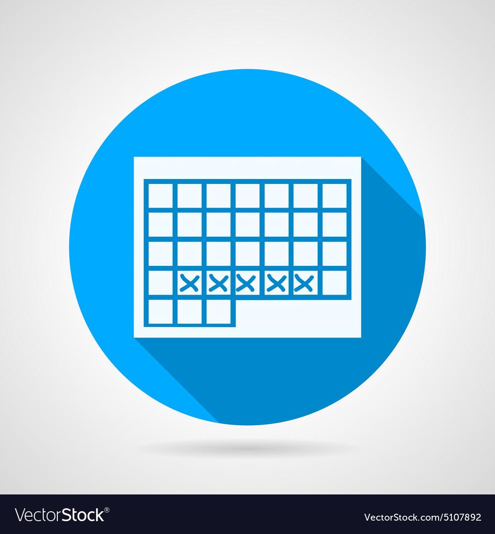 Round Icon For Menstruation Calendar regarding Calendar Icon Round
