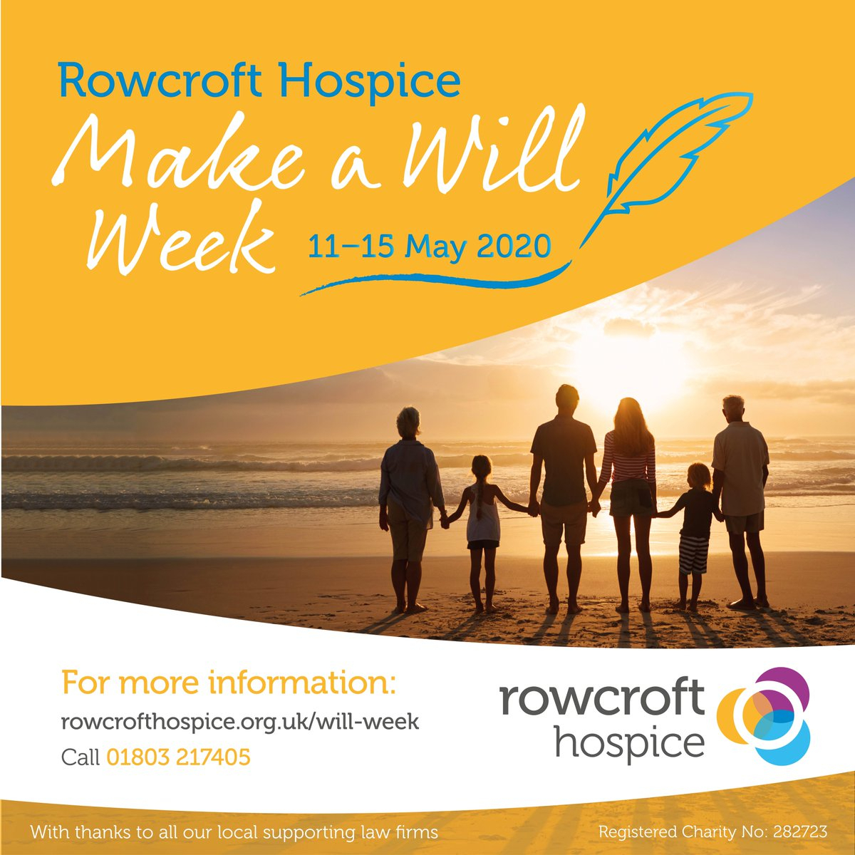 "Rowcroft Hospice On Twitter: ""save The Date And Make Or for Hospice Week 2020"