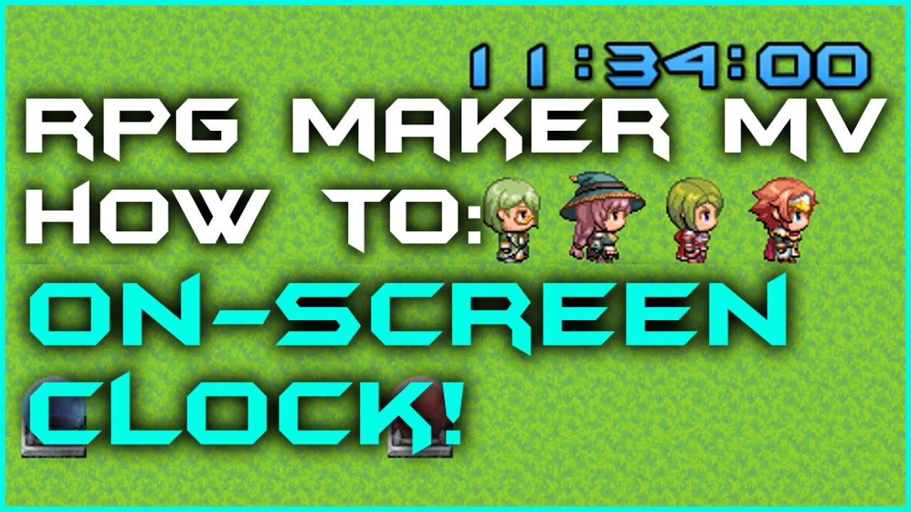 Rpg Maker Mv  How To Create An Onscreen Clock! throughout Rpg Maker Mv Clock