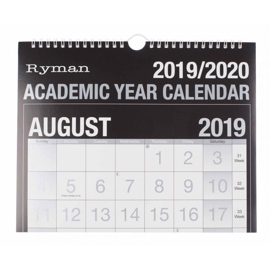 Ryman Academic Calendar Easy View 20192020 intended for Kodak Calendar Maker