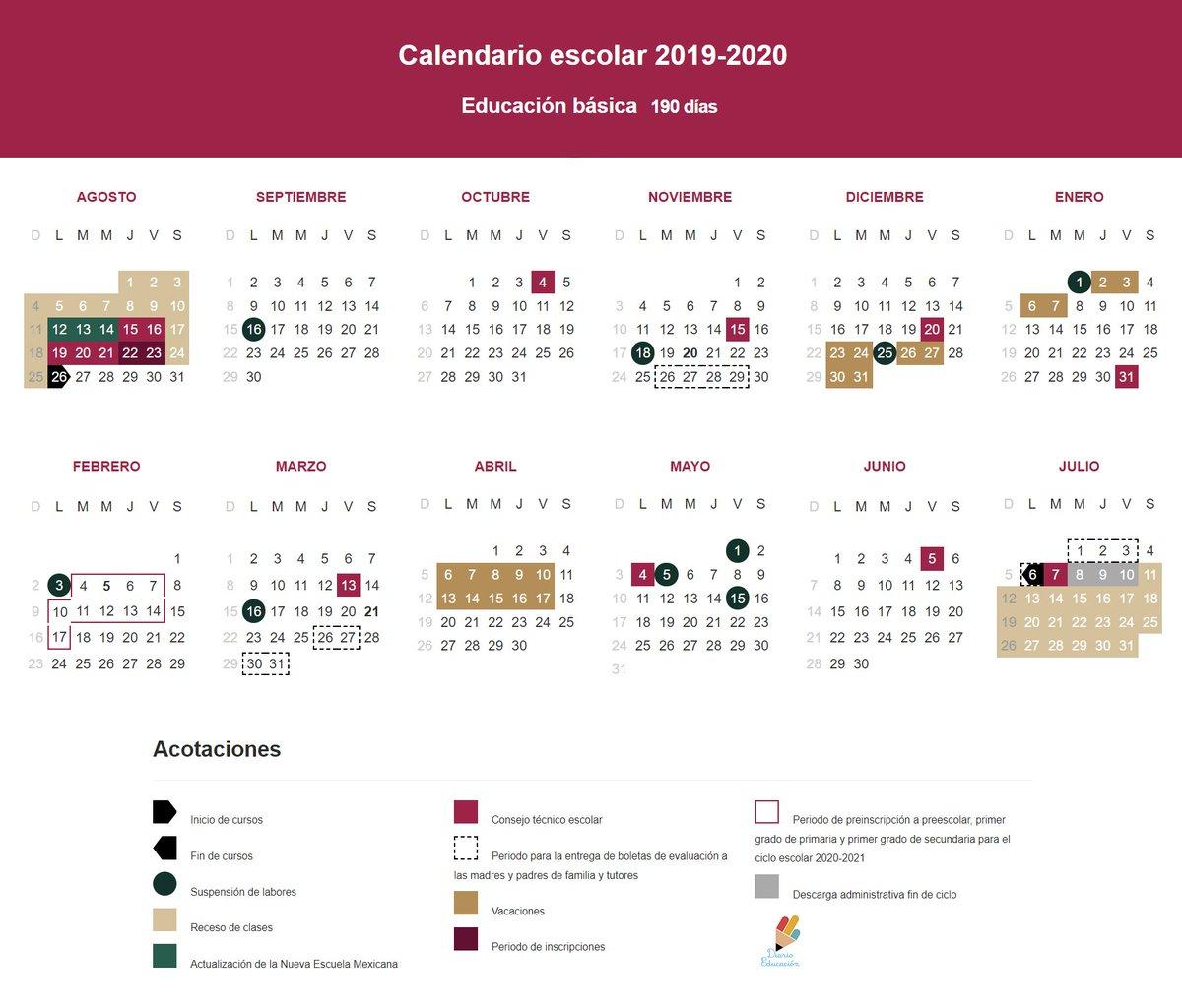 "S.t.i.r.t.t.nacional على تويتر: ""#sep Da A Conocer El regarding Sep Calendario 2020"