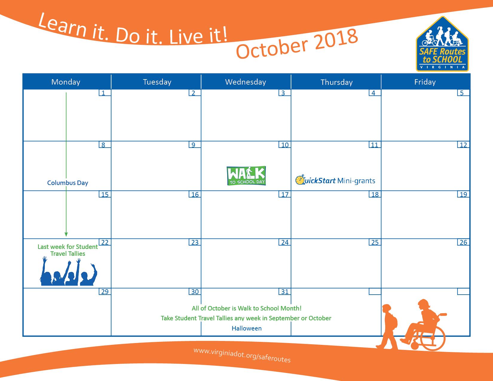 Safe Routes To School  Programs | Virginia Department Of regarding Rockingham County School Calendar